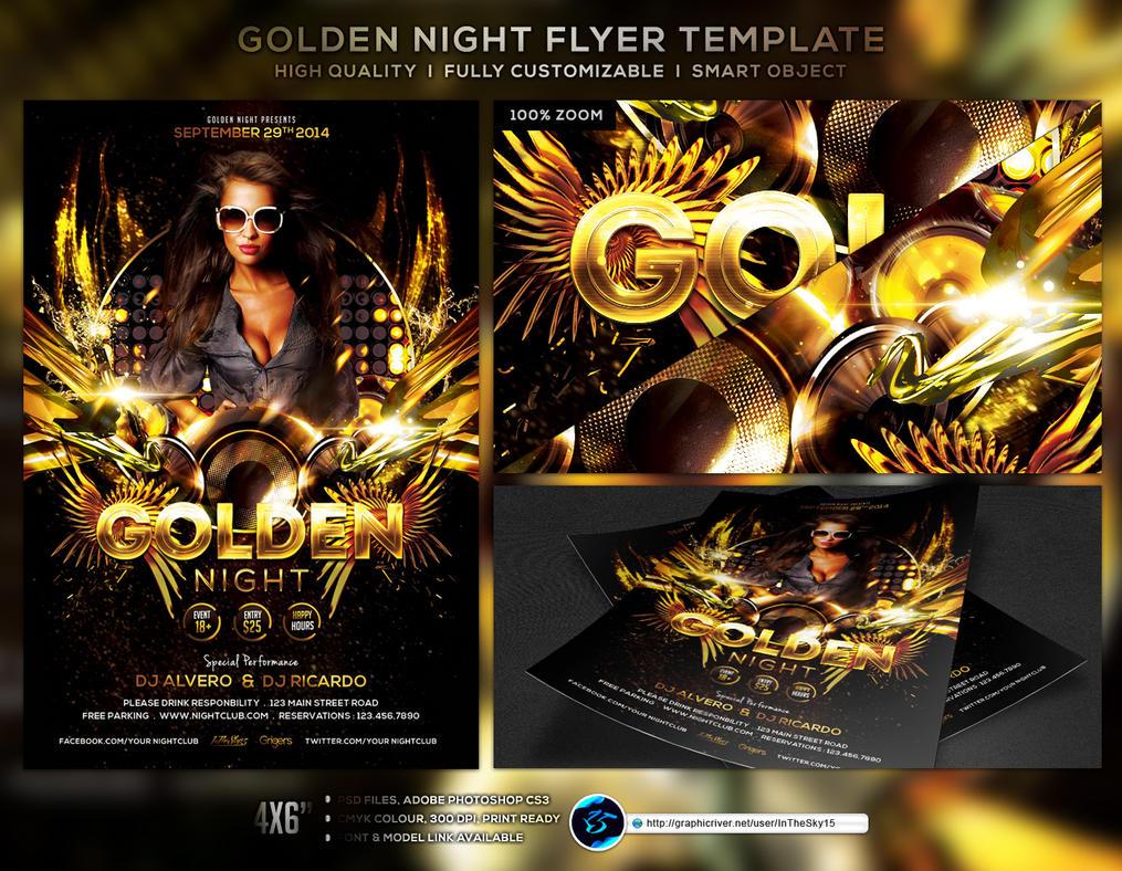 Golden Night Flyer Template by ranvx54