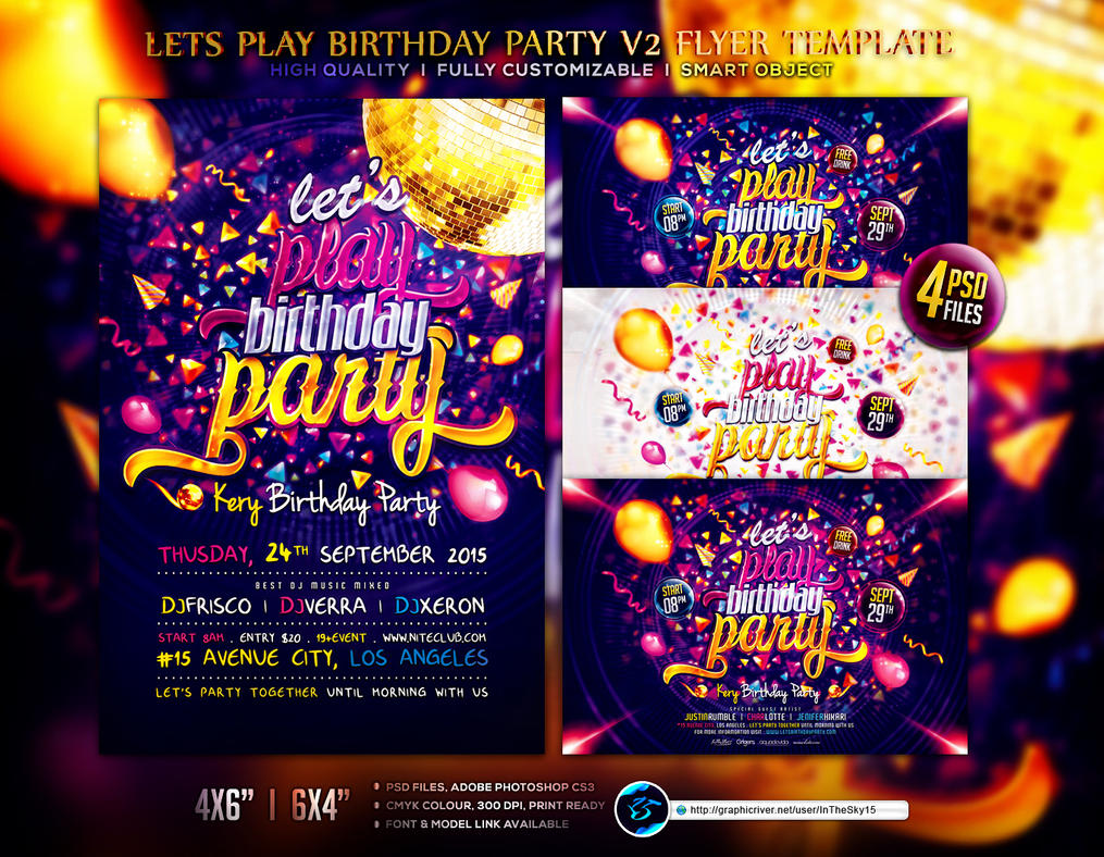 Lets play birthday party v2 flyer template by ranvx54 on deviantart lets play birthday party v2 flyer template by ranvx54 saigontimesfo