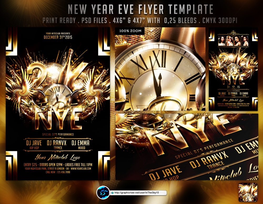 New Year Eve Flyer Template By Ranvx On Deviantart