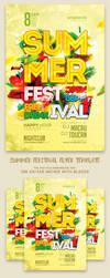 Summer Festival Flyer Template by ranvx54