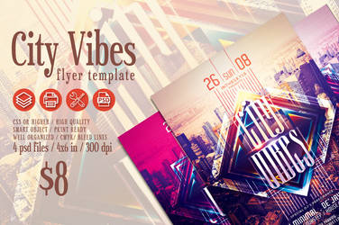 City Vibes Flyer Template by ranvx54