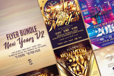 New Years Flyer Bundle V2 by ranvx54