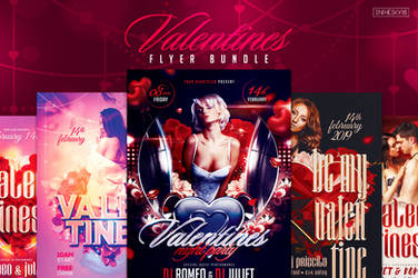 Valentines Flyer Bundle by ranvx54