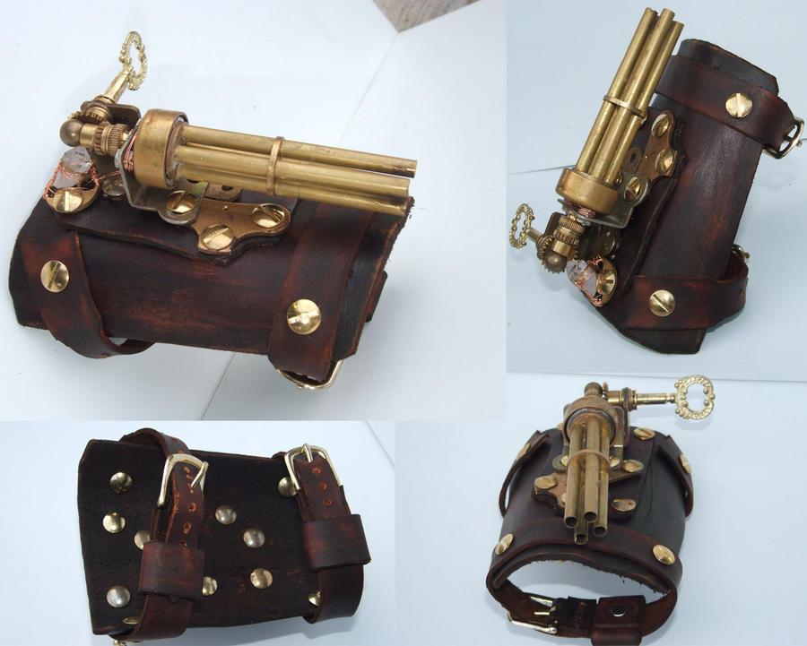 Steampunk wrist gun 1 by Hexonal