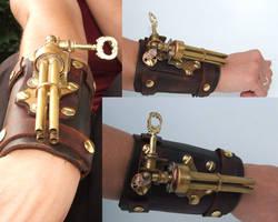 Steampunk wristgun 3 by Hexonal