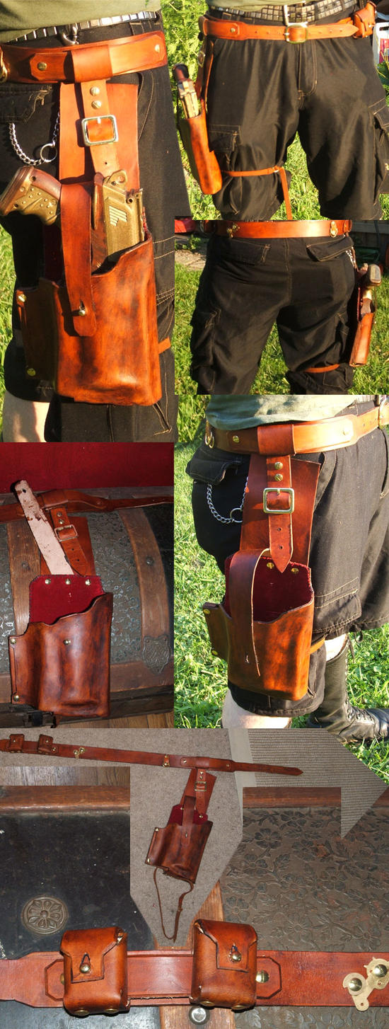 Steampunk Maverick Holster II by Hexonal