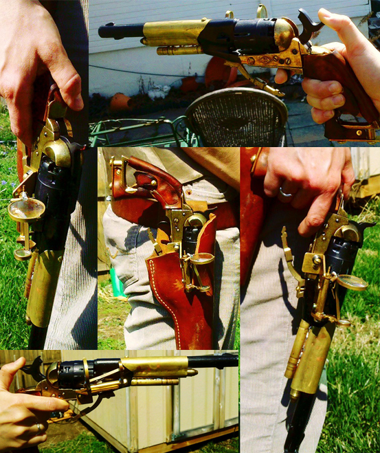 Steampunk Modded Revolver by Hexonal