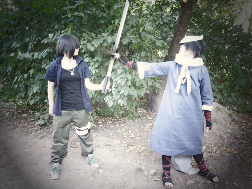 Sasuke and Menma by CookieCosPro