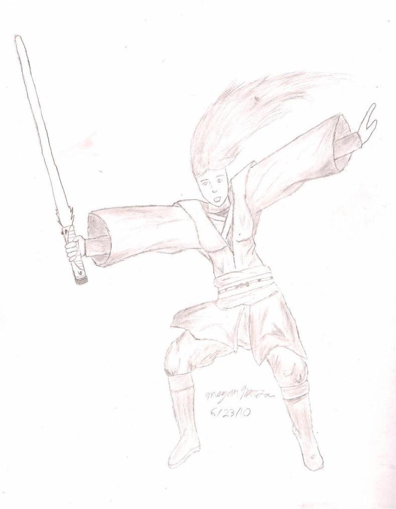 how to draw a jedi