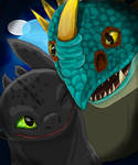 Toothless and Stormfly