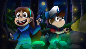 Dipper and Mabel REDRAW by itsmyartfam