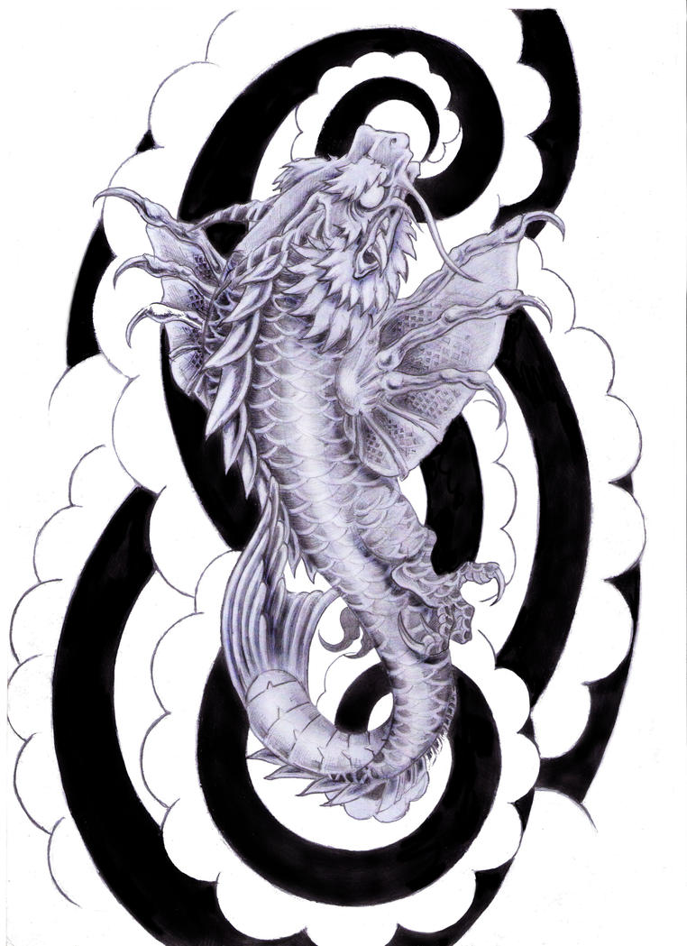 koi dragon tattoo design by tylerrthemesmer on deviantart. Black Bedroom Furniture Sets. Home Design Ideas