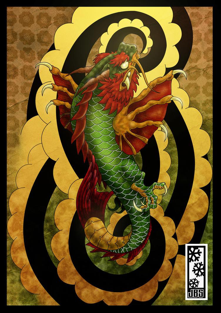 Koi dragon colored by tylerrthemesmer on deviantart for Japanese koi dragon