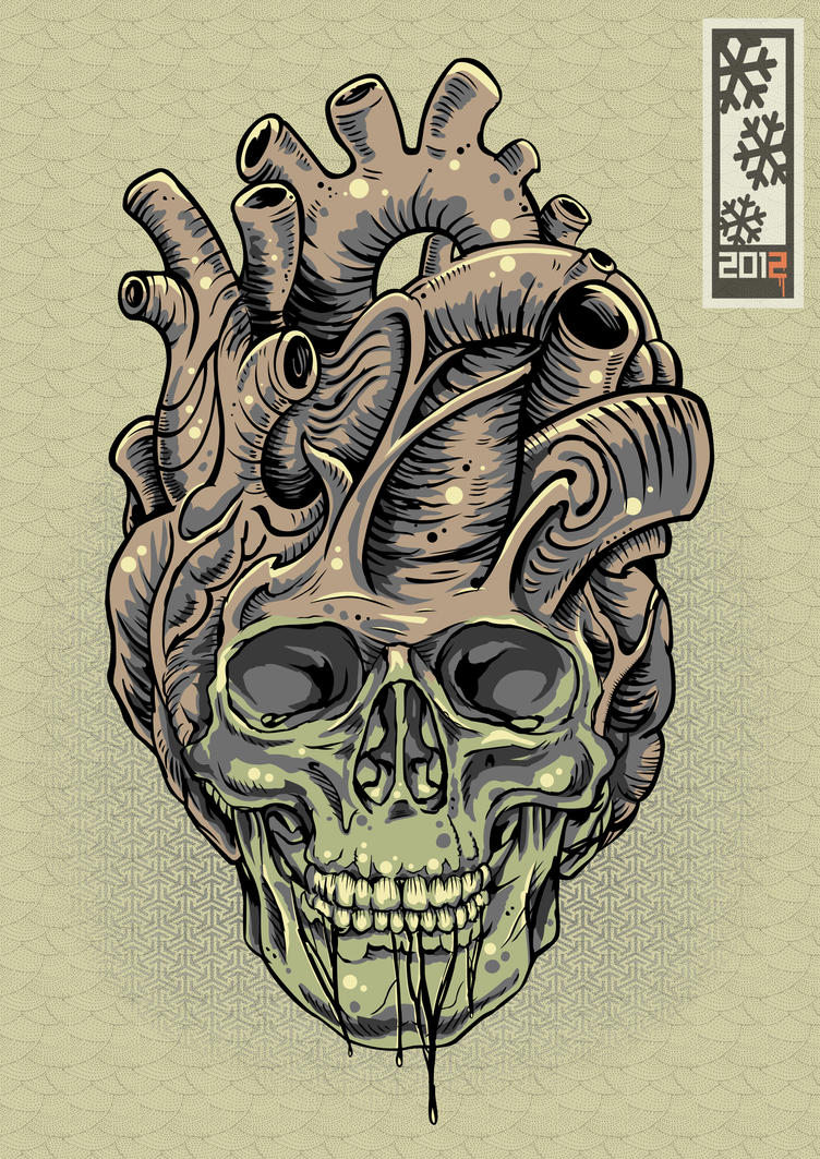 Vector skullheart by tylerrthemesmer on deviantart for Skull love tattoos