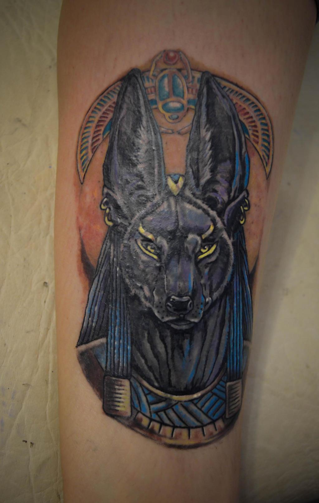 Traditional Anubis Tattoo