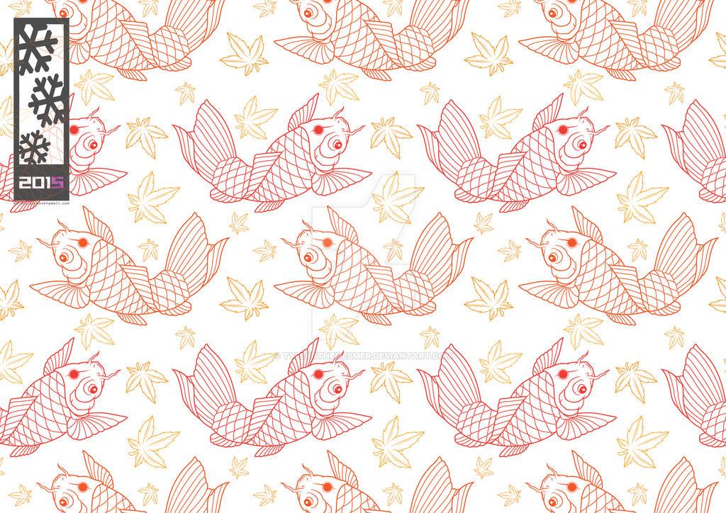Koi fish pattern by tylerrthemesmer on deviantart for Koi fish patterns
