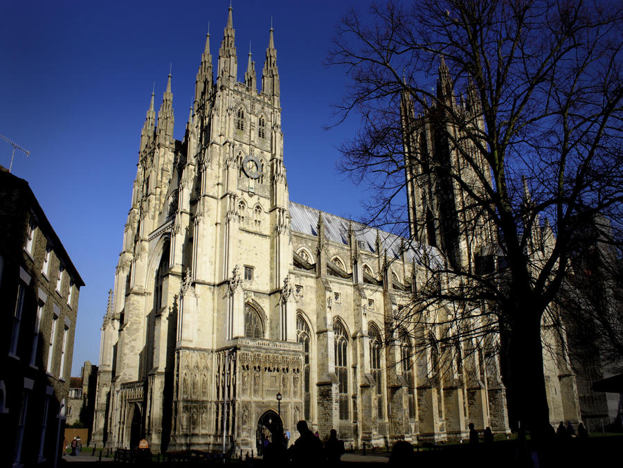 Canterbury Cathedral Exterior Gothic By John Uk