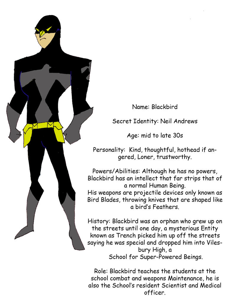 Superhero Blackbird by ECs-Overlord