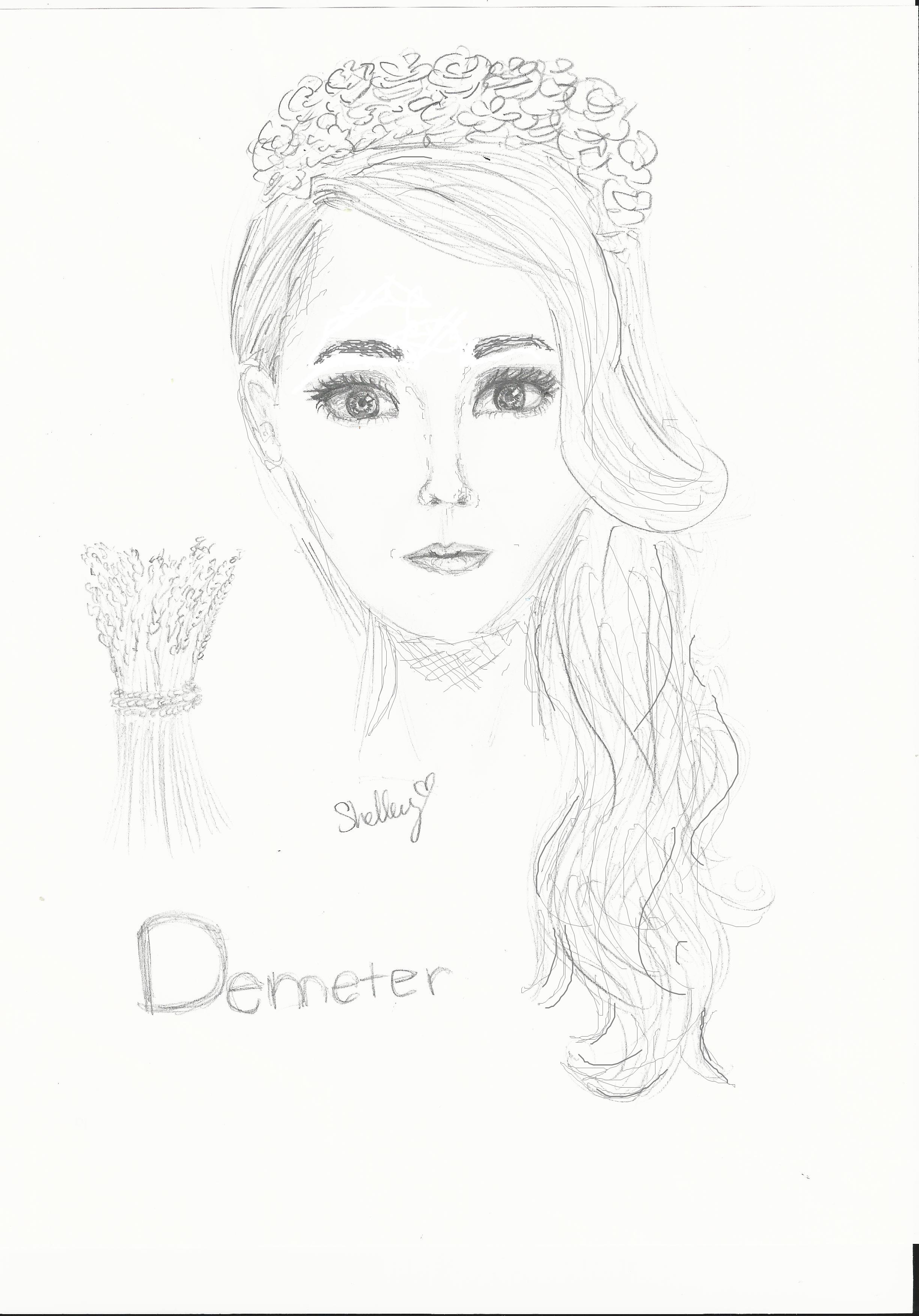 demeter greek goddess drawing - photo #11