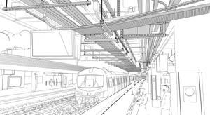 Catalogue lineart, 2021 Kowloon Tong MTR Hong Kong
