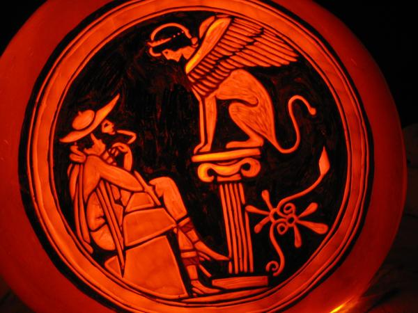 Pumpkin - Oedipus and Sphinx by snerk