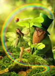 Saint Patrick and fairy