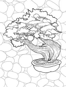 Blissful Bonsai Coloring Pages - 05