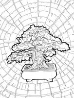 Blissful Bonsai Coloring Pages - 10 by trash-empress
