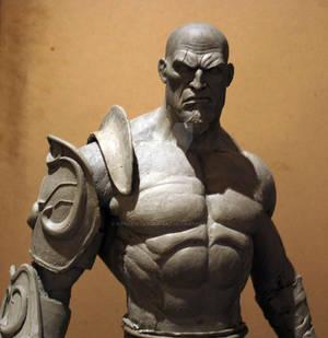 Escultura de Kratos escala 1/2 -4