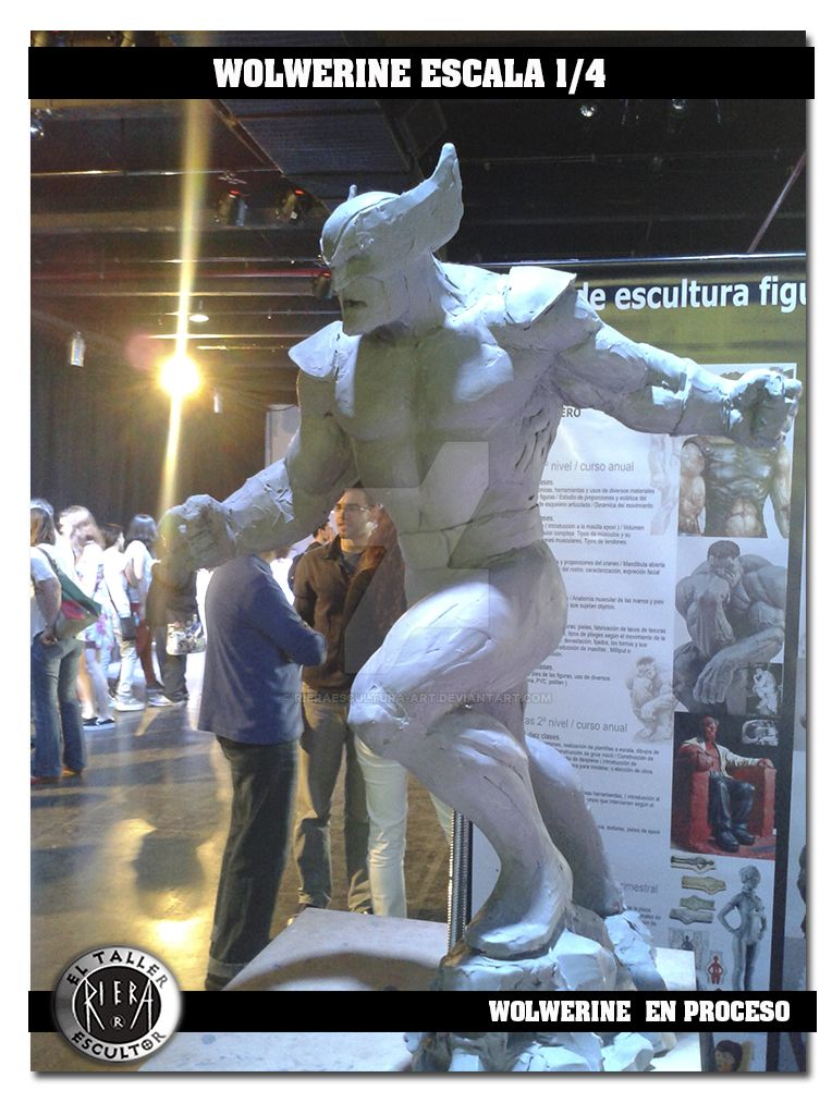 Wolwerine 10 by rieraescultura-art