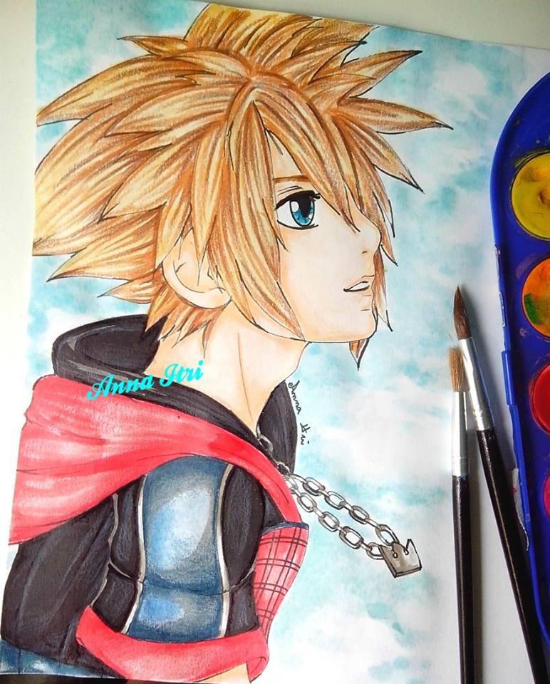 Fan art - Sora Kingdom Hearts by itrianna