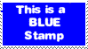 Blue Stamp by PhantomComet