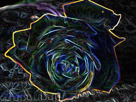 Glowing Rose by PhantomComet