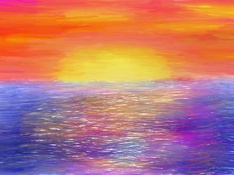 Ocean Sunset by PhantomComet