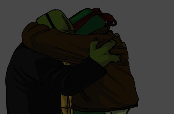 RaphxLeo SaiNW Hug by iceicefangurl