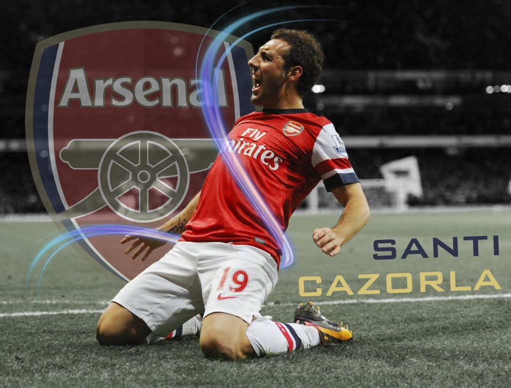 Santi Cazorla goal celebration by Shark 221 on DeviantArt
