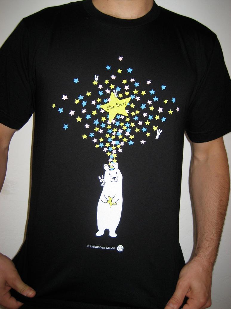 Star Bear with Bunnies Tshirt by sebreg