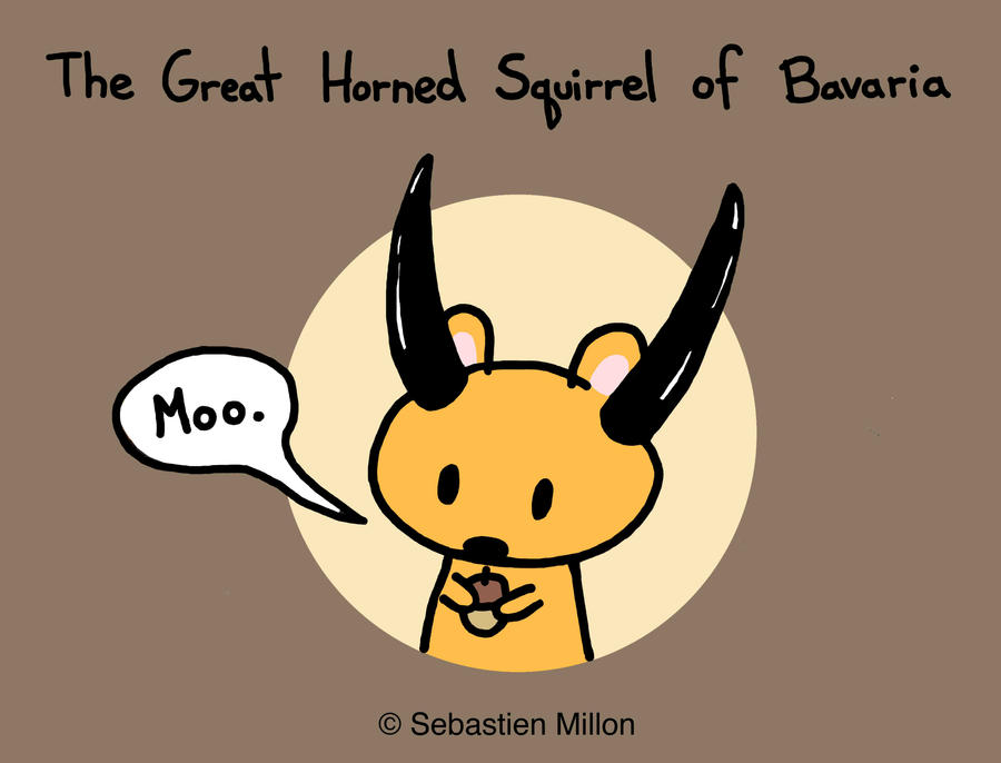 Horned Squirrel of Bavaria by sebreg