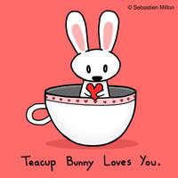 Teacup Bunny Loves You by sebreg