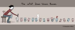 Artist Draws Unicorn Bunnies