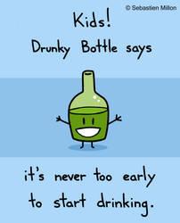 Drunky Bottle by sebreg