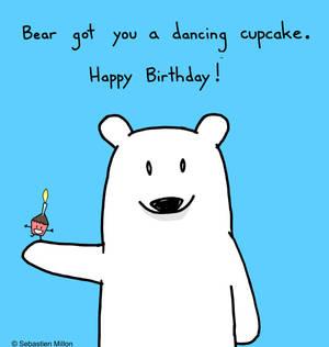 Happy Birthday Dancing Cupcake