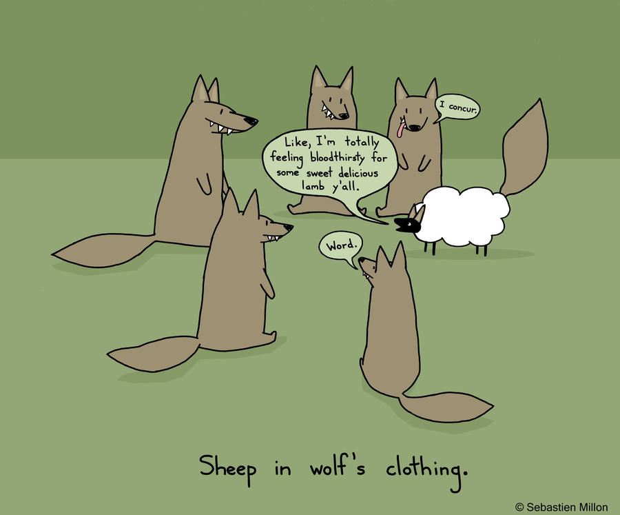 http://img10.deviantart.net/0646/i/2011/311/9/4/sheep_in_wolf__s_clothing_by_sebreg-d4fg3n0.jpg