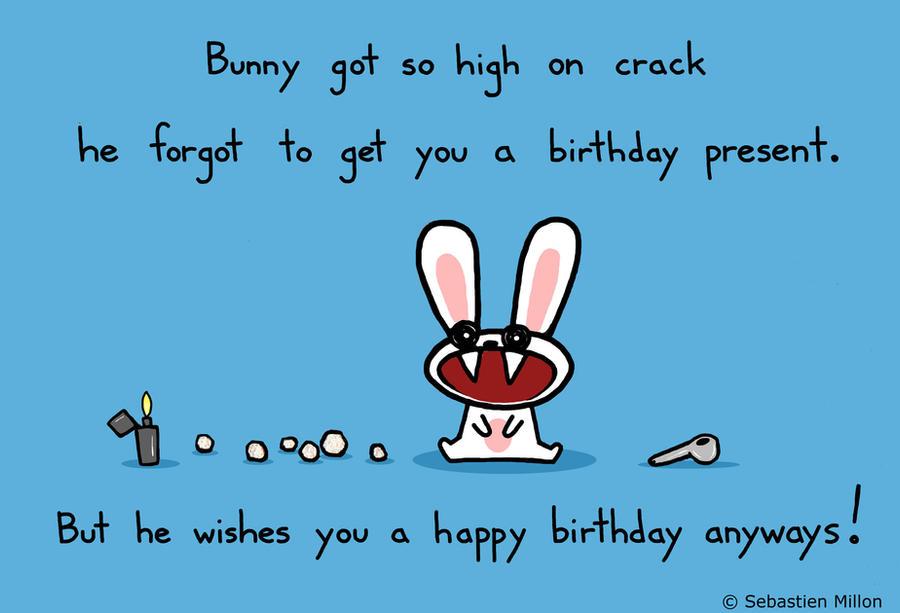 happy birthday funny bunny