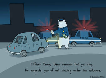 Officer Drunky Bear by sebreg
