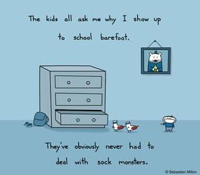 Sock Monsters by sebreg