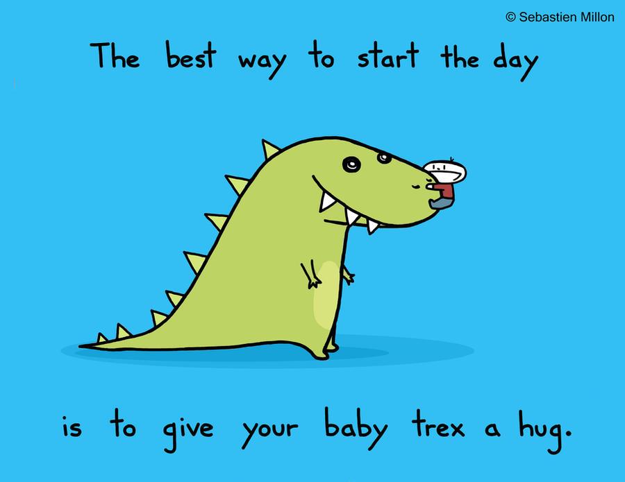 Hug Your Baby Trex by sebreg