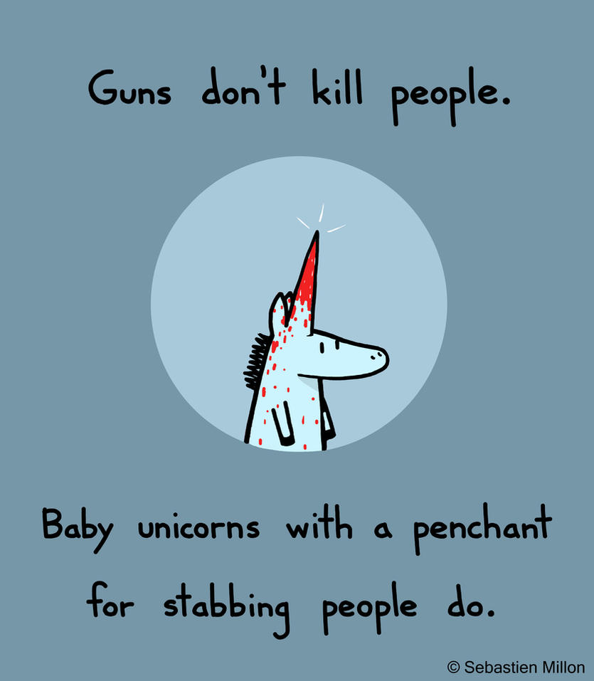 Baby Unicorns Are Dangerous by sebreg