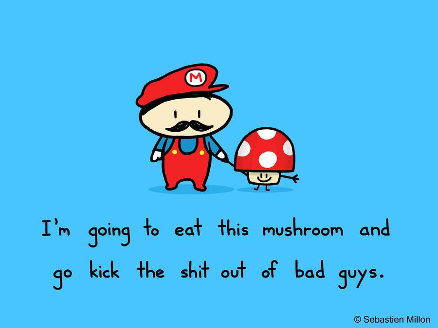 Super Mario and Mushroom by sebreg