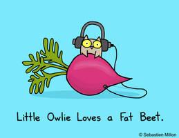 Little Owlie Loves a Fat Beet by sebreg